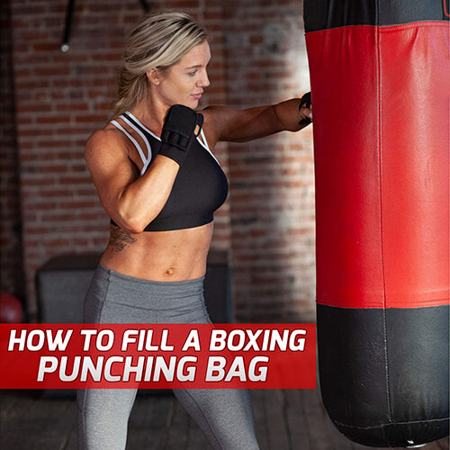 How to fill a boxing punching bag: Material types of filling empty punching bag