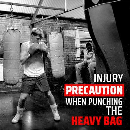 5 Injury Precaution Tips When Punching the Heavy Bag
